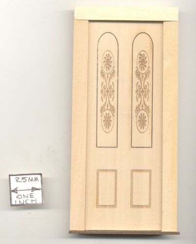Door Engraved Panel  2304 wood dollhouse miniature 1:12 scale Made in USA