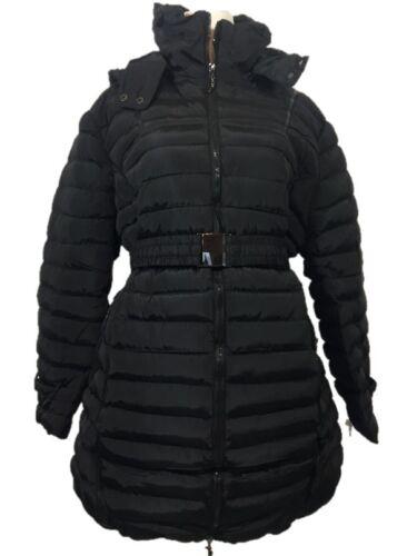 Giacca Invernale Stepper-MANTEL larghezza calde impermeabile cappuccio NERO L-XL 2xl 44-52 54