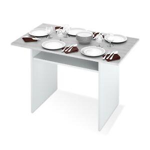 Detalles de Mesa consola desplegable, apertura libro, cocina, Blanco y Gris  Cemento, Tavolo