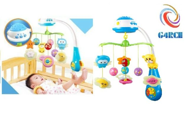 4c26aae83f2 Baby Musical Crib Bed Cot Mobile Stars Dreams Light Flash Nursery Lullaby  Toys