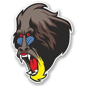 2 x angry gorilla vinyle autocollant animaux singe #7079