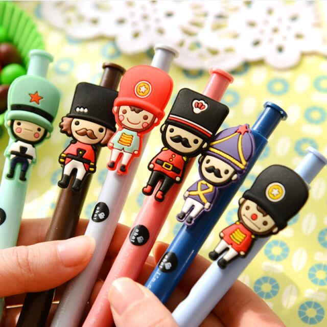 3PCs British Soldier Ball Pen Ballpoint Pen Student Ballpoint Novelty Pen Random