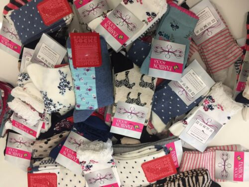 15 pairs luxury ladies women/'s coloured design socks cotton blend size 4-7 GBFRS