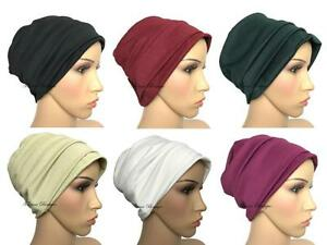 Stylish-2-piece-Turban-hats-underscarf-cap-hijab-stretchy-material-chemo