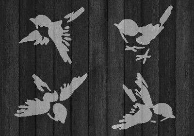 SHABBY Chic Stencil 1x RONDINE RUSTIC MYLAR stile vintage A4 297x210mm Wall Art