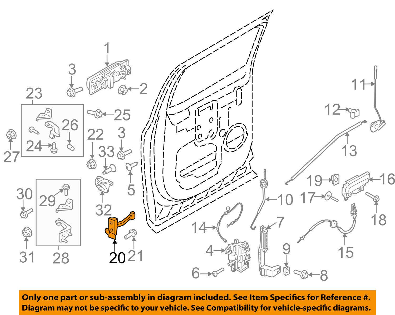 FORD OEM 15-16 F-150-Door Check Arm Stop Hinge Strap FL3Z1627204A