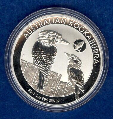2017  AUSTRALIAN KOOKABURRA  SHARK PRIVY  1 OZ .999  FINE SILVER COIN IN CAPSULE