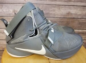 new product 8690b 1a60f Image is loading Nike-Lebron-James-Soldier-IX-Basketball-Sneakers-Youth-