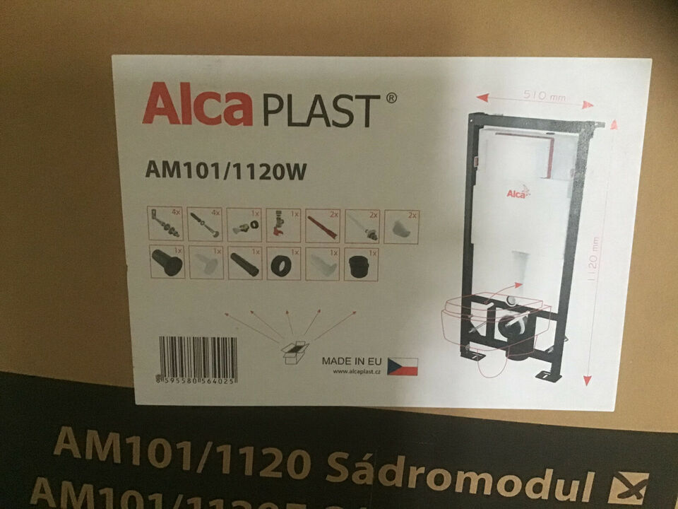 Ny wc og indbygningscisterne Alca
