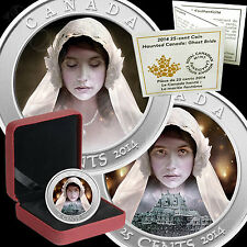 GHOST BRIDE Hologram Coloured Halloween Coin HAUNTED SERIES 2014 Canada 25 CENTS