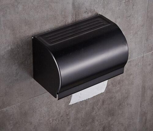 Black Toilet Paper Roll Holder Shelf Storage Cover Hook Ring Rack Hanger Box