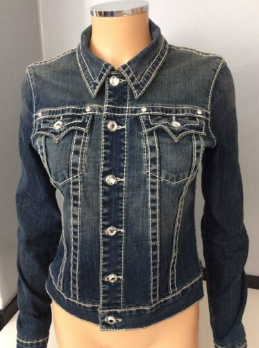 True Jacket Buttons Religion Large Størrelse Denim L Swarsoki wqUzwT