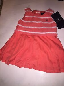 46fd0711db43 Image is loading NWT-Tommy-Hilfiger-Striped-Collared-Orange-Dress-Baby-