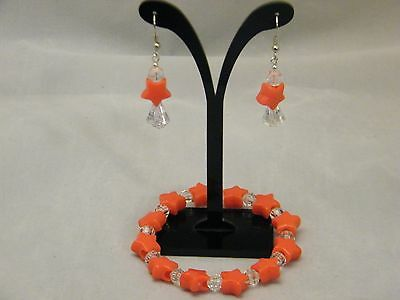 Jewelry Set Orange Earrings & Bracelet Star Jewelry Women Acrylic Beads Fashion