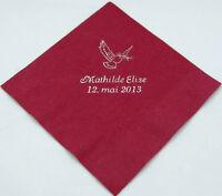 50 Personalized wedding beverage napkins cocktail custom printed wedding favors