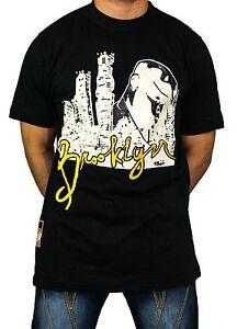 Brooklyn-T-Shirt-time-is-money-Urban-Retro-Vintage-T-Shirt-Uomo-Hiphop-Ragazzi