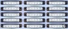 15 x 24V LED vorne weiß klar Seite Begrenzungsleuchten Lampen LKW Kipper Bus
