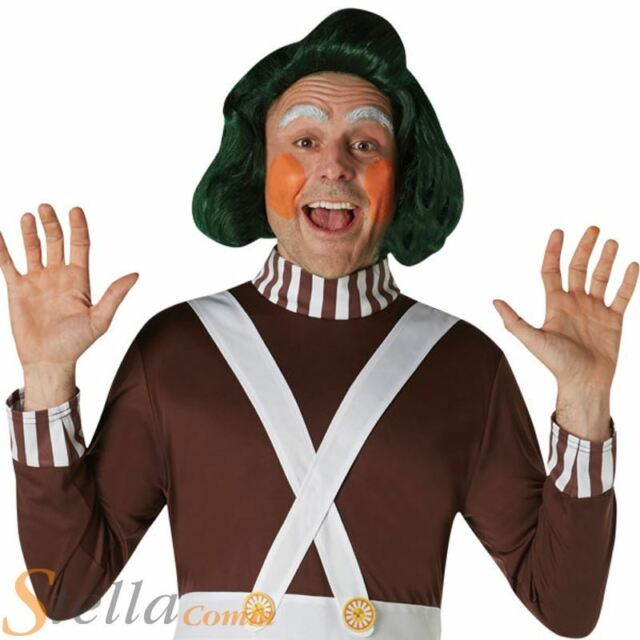 Oompa Loompa ADULT Wig Costume Accessory NEW Willy Wonka and Chocolate Factory