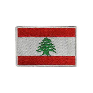 Lebanon Country Flag Patch Iron On Patch Sew On Badge Embroidered Patch
