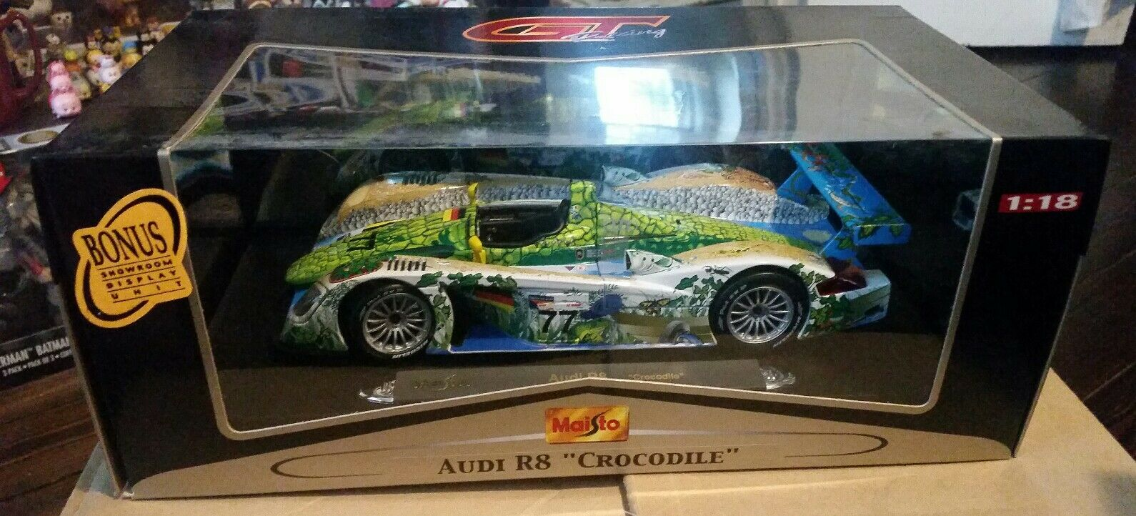 Maisto 1 18 18 18 GT Racing Audi R8 Crocodile MIB 266581
