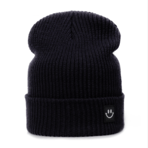 f5a03402c05 Stylish Winter Hat For Men Women Smiley Knitted Comfy Cotton Beanie ...