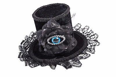 Böser Blick Hut Spitze Blume Elegant Kopfschmuck Witwe Gothik Kostüm Halloween
