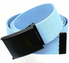 """NEW 1.5/"""" WIDE CLASSIC ROLLER BLACK BELT BUCKLE with TIP ONLY Canvas Belts"""