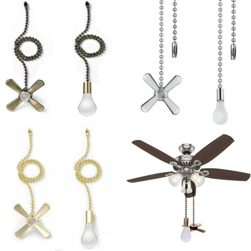 13.6 Inches Fan Pull with Ball Chain Connector Included Light /& fan Pulls AIIGOU Ceiling Fan Pull Chain Set
