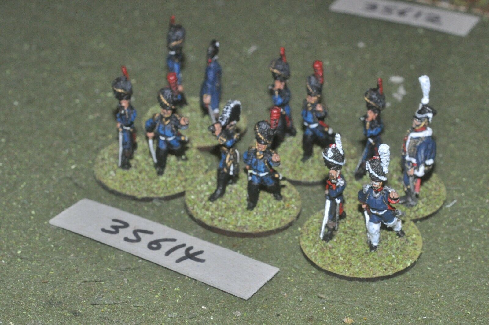 25mm napoleonic   french - officers 12 figures - command (35614)