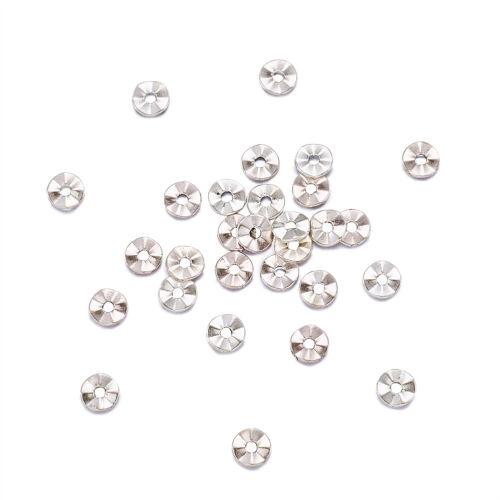 100x sans plomb Plat Rond Argent Antique Tibétain Style Spacer Beads Crafts 7x1mm