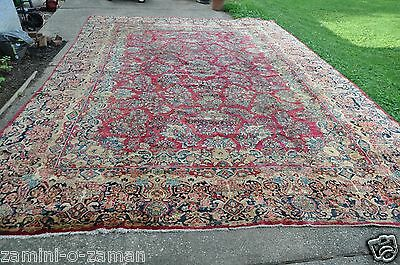 Palace Size Antique Persian Sarouk Rug 12x17 Persian Carpet