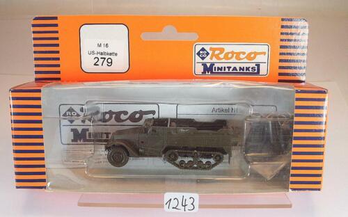 Roco Minitanks 1//87 Nr.279 Halbkette M16 US Army Militär OVP #1243