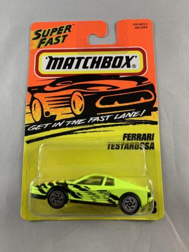 Vintage Matchbox Superfast BOXED SHIPPING 1995 Ferrari Testarossa Yellow