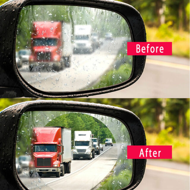 2pcs Car Anti Fog Anti-water Coating Film Rainproof Rear View Mirror Protective