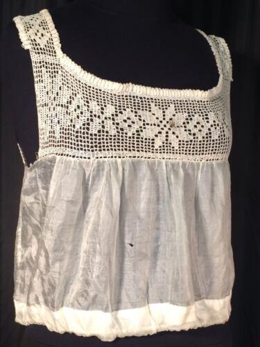 Vintage cotton & silk Victorian camisole Corset c… - image 1