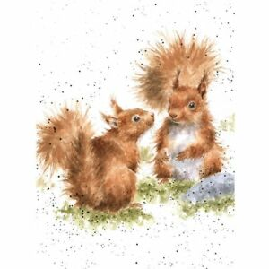 BETWEEN FRIENDS - WD-C-ACS118 Squirrels Wrendale Designs Greeting Card