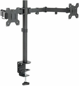 VIVO-Dual-Monitor-Desk-Mount-Stand-Heavy-Duty-Fully-Adjustable-Screens-up-to-27-034