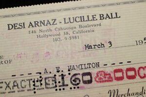 Lucille-Ball-Desi-Arnaz-1957-Desilu-I-LOVE-LUCY-Check-1834-A-E-Hamilton
