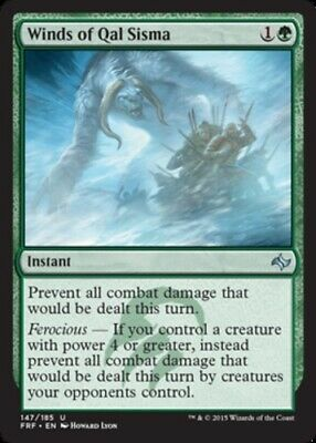 English Fate Reforged MTG Magic 4x Winds of Qal Sisma NM-Mint