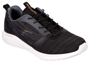 SKECHERS-52504-BOUNDER-Memory-Foam-scarpe-uomo-sportive-sneakers-tessuto-nero