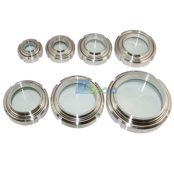 """102mm 4"""" Sanitary Sight Glass Stainless Steel SS316 Circular Viewing"""