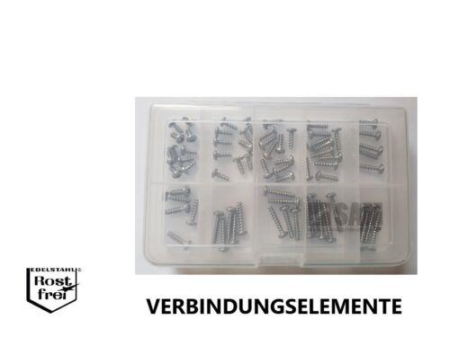 PT-Vis Assortiment Linsenkopf avec cruciforme Ø 4,0 70 pièces acier inoxydable a2
