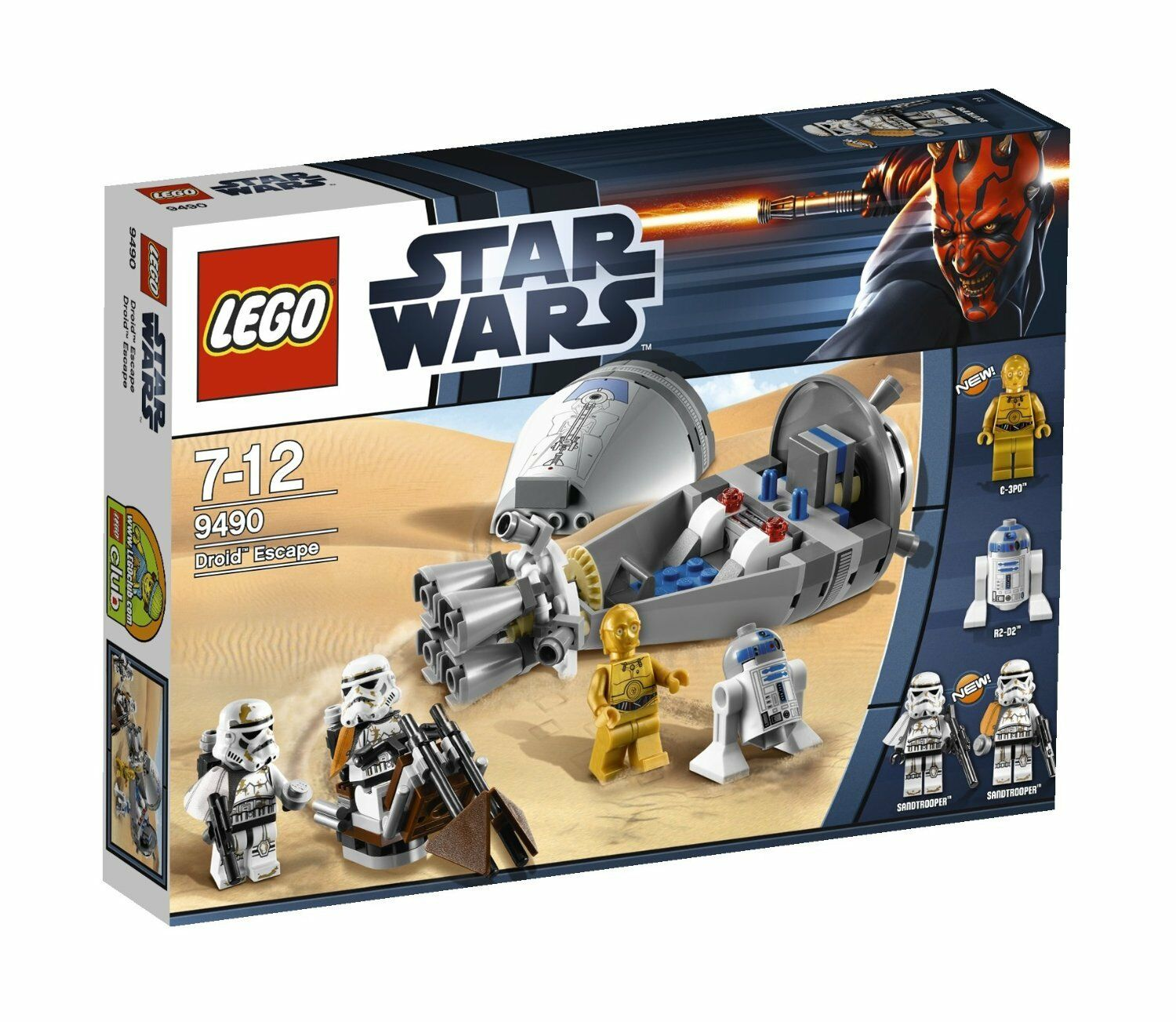 LEGO Star Wars 9490 Droid Escape R2-D2 C-3PO Sandtrooper Swoopbike