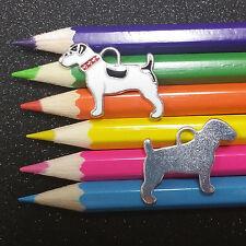 3 PCS - Black White Dog Animal Enamel Silver Charm C1277