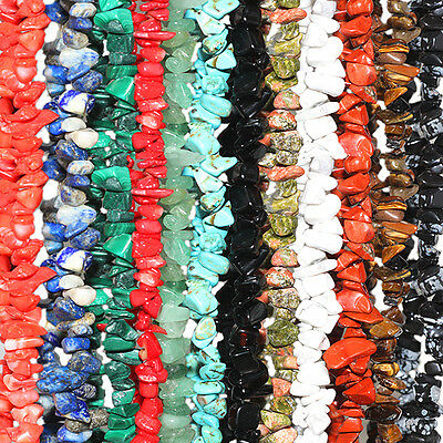 Multi-Color Gemstone Beads Chip Necklace 32-36""