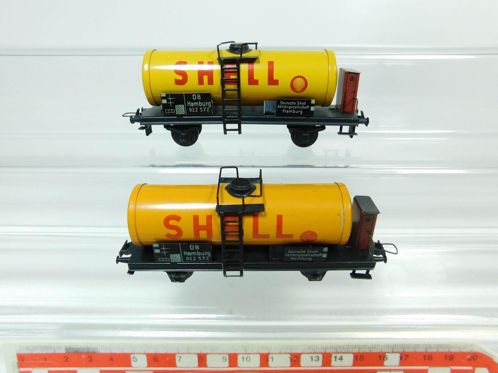 Bp746-0, 5 x Trix Express H0 Dc Blech-Kesselwagen Shell 922 572 Db, Good