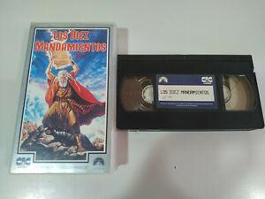 LOS-DIEZ-MANDAMIENTOS-CHARLTON-HESTON-CECIL-B-DE-MILLE-S-VHS-Cinta-Tape