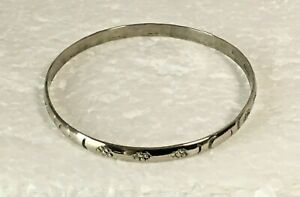 Vtg-heavy-solid-sterling-silver-bangle-3-in-034-Bracelet-925-Chunky-16g-stamped