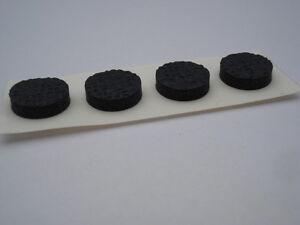 Lote-de-1000-patines-adhesivos-Pie-negro-adhesivo-diametro-13x3mm-antideslizante