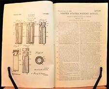 1928 Patent Grant Document Mailing Tube Early Drawings Medical Specimens